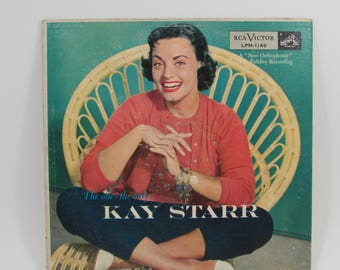 """Kay Starr """"The One The Only Kay Starr"""" RCA Victor Vintage Mid Century 1956 Vinyl LP Record in Original Cardboard Sleeve"""