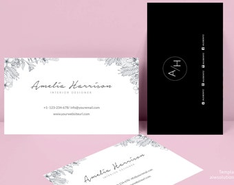 Business Card Template, Name Card Template, Photography name card, model name card, business template, calling cards, DIY business cards