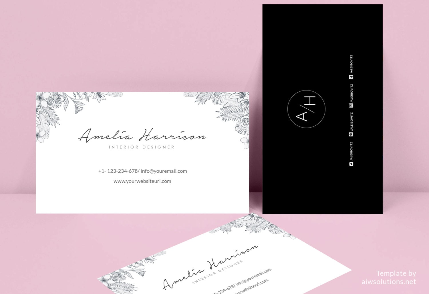 Business Card Template Name Card Template Photography Name - Easy business card template