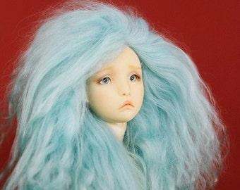 "BJD mohair wig - Mintyluscious - 4/5"""