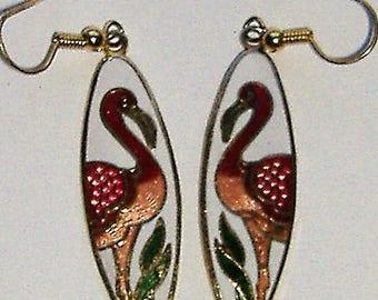 PAIR OF ENAMEL 1980S earrings