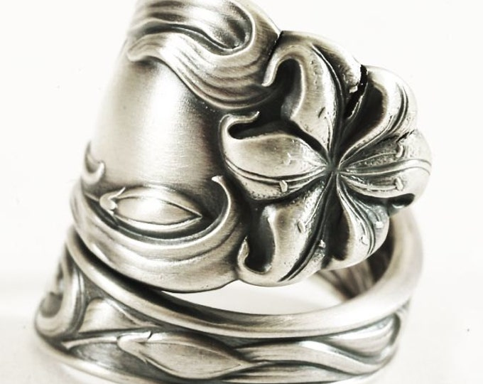 Tiger Lily Ring, Large Spoon Ring 925 Sterling, Floral Ring, Stargazer Flower Ring Silver, Botanical Jewelry, Gift for Her, Custum Size 6725