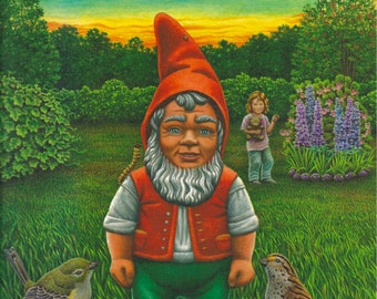 Good Night, Garden Gnome picture book, by Jamichael Henterly