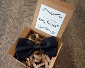 Ring Bearer Proposal - Page Boy Proposal - Will You Be Our Ring Bearer Page Boy - Bow Tie - Bridal Party Proposal - Bridal Party Gift
