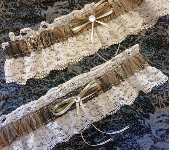 Camo Garter For Wedding: Hunting Camo Camouflage Realtree Wedding Garter Belt Set W/