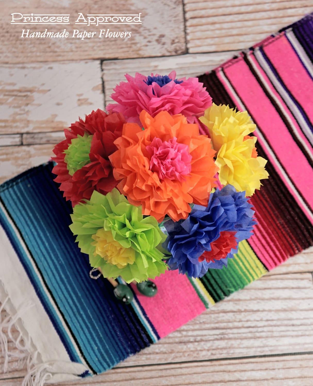 Fiesta cinco de mayo bouquet handmade tissue paper flowers mightylinksfo Images