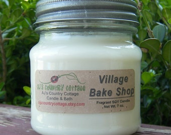 VILLAGE BAKE SHOP SoY Candle - Cookie Candles, Vanilla Candles, Scented Candles, Scented Soy Candles