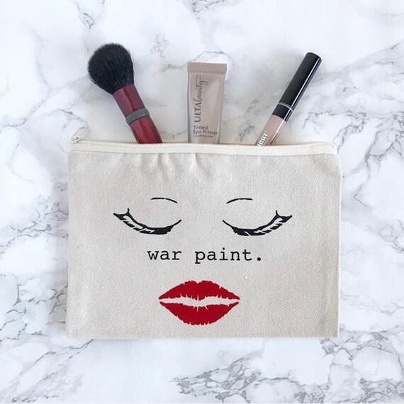Canvas Cosmetic Bag: War Paint, Makeup Bag
