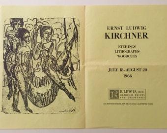 Ernst Ludwig Kirchner, German Expressionist, Degenerate Painter Artist, MCM Wall Art, Framed Art,  Abstract Artist Expressionist Artist