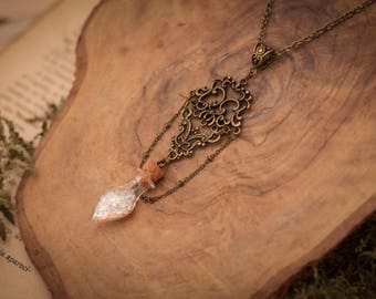 Fairy Dust Necklace, Fairy Dust Pendant, Fantasy Necklace, Christmas Gifts for Her, Bottle Necklace, Larp Necklace, Christmas gift for woman