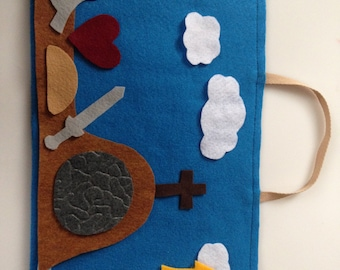Felt Easter Advent Activity  Reusable Set with Devotional