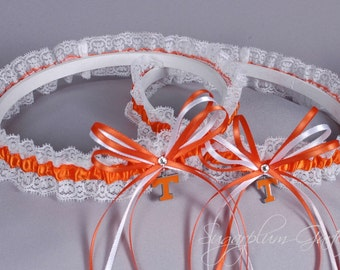 University of Tennessee Vols Lace Wedding Garter Set