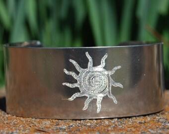 Silver Sun Cuff - Sun Bracelet - Native American Bracelet, Cherokee Copper, Cherokee Bracelet, Native American Jewelry, Silver Bracelet