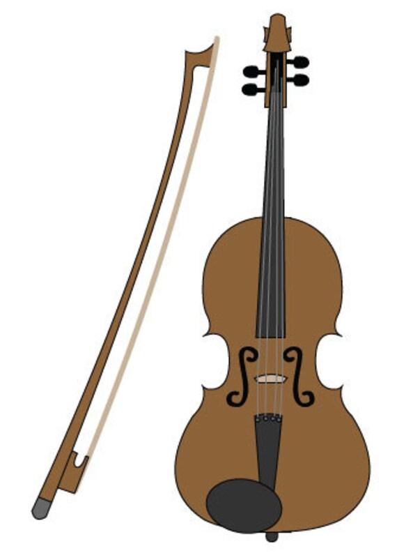 violin clip art/ violin digital download/ violin vector