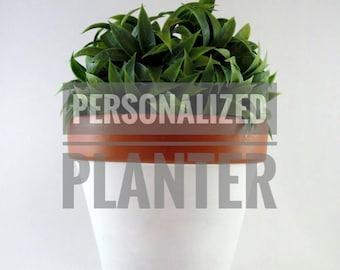 CUSTOM PLANTER / custom logo / personalized stamp | terracotta pot | clay pot | planter