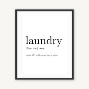 Superieur Laundry Definition, Laundry Room Decor, Printable Laundry Art, Laundry Home  Decor, Laundry