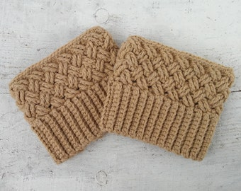 Boot toppers for women crochet boot cuffs for sale color beige or white MADE TO ORDER