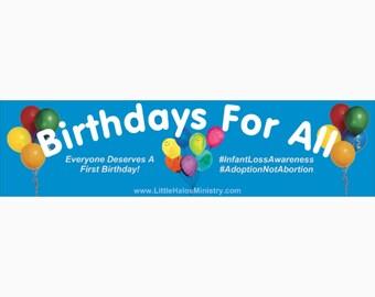 Birthdays For All bumper sticker