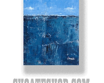"Abstract Painting. ""Blue Ocean"""