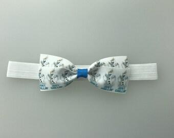 Frozen Olaf bow  Headband diff options for headband