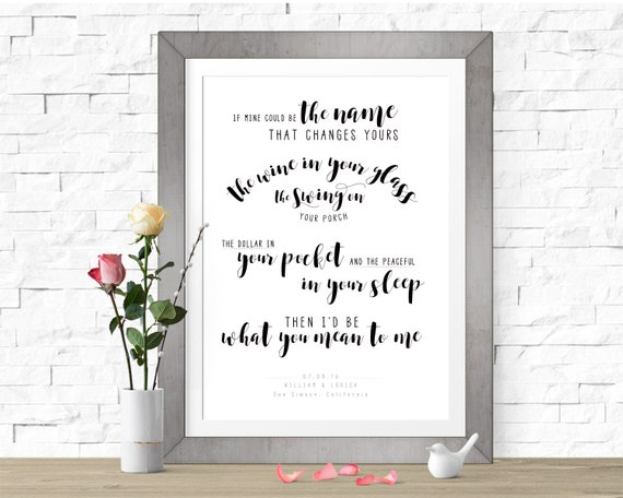 Mean to me brett eldredge wedding song print first dance stopboris Gallery