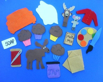 If You Give a Moose a Muffin Childrens Flannel Board Felt Set