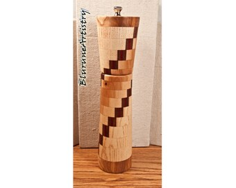 Deluxe Handcrafted Peppermill made from Segmented Woods - P31