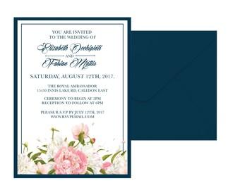 Classic Floral Wedding Invitation Suite