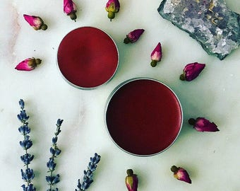 Flushed lip butter and cheek stain | cheek stain | lip stain | lip balm | lip tint | gifts for her | organic lip and cheek stain