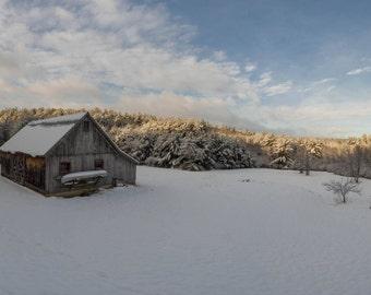 Morning light with Barn, Western Massachusetts