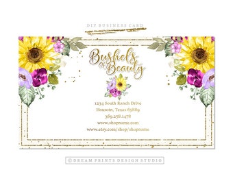 Premade DIY Business Card   Printable Card   Business Set   Business Graphics   Business Card Printable   Editable Card   INSTANT DOWNLOAD