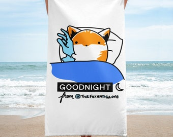 The Fox and Glove Goodnight Towel