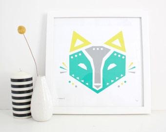 Fox Print, Kids Decor, Wall Art