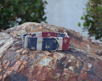 The 'Merica Dog Collar (Martingale or Buckle)