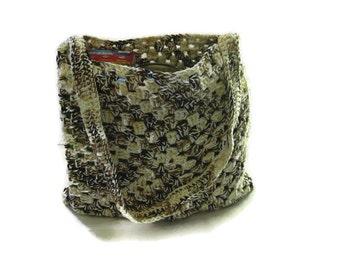 Super Durable Double Thick Crochet Granny Square Market Bag, Tote Bag