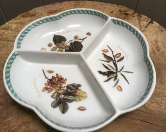 Hors d'oeuvre Ceramic Nut Serving Plate , French Cuisine