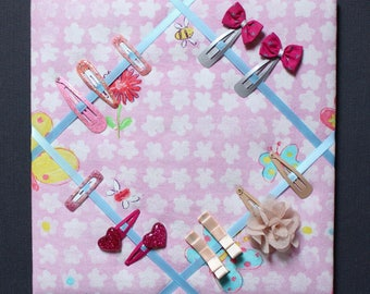 Wall frame for butterfly hair clips