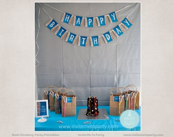 Rock Climbing Party Printable Decorations
