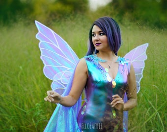 Queen Titania Metal Wings Cosplay Iridescent fairy wings