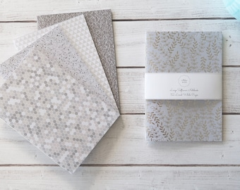 Silver Softcover Notebook Journal Notebook Travel Notebook Hand Bound Stationery 32 Lined White Pages *** Sold Individually ***