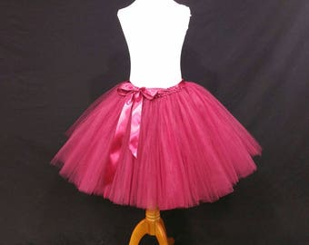 Wine children to adult Tutu** Halloween Orders Available **/ Tulle costumes/ Adult tutu (FULLY LINED/ 33 colors available)