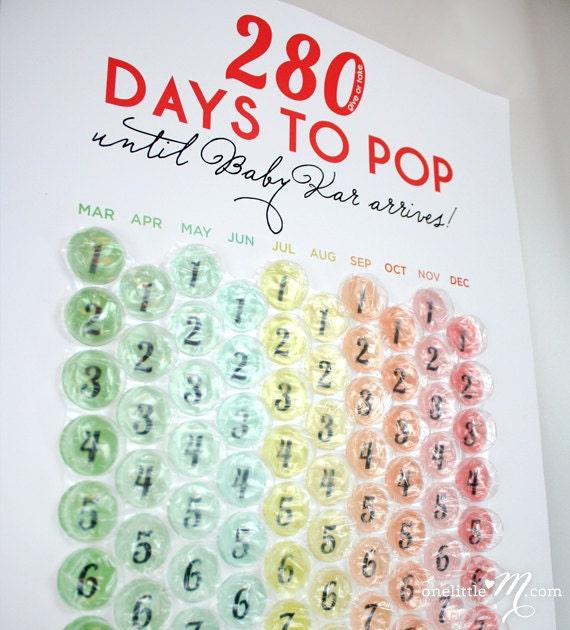 ready to pop pregnancy countdown calendar