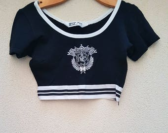 Cropped top vintage 80's-MADE IN FRANCE-