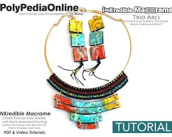 Polymer Clay Tutorial, Macrame Tutorial, Knotting Tutorial, DIY Macrame, Macrame Jewelry, Polymer Clay Jewelry, Macrame Necklace, Pattern