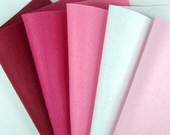 5 Colors Felt Set - Valentine - 20cm x 20cm per sheet