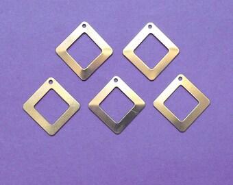 5 charm gold tone 22 mm Diamond