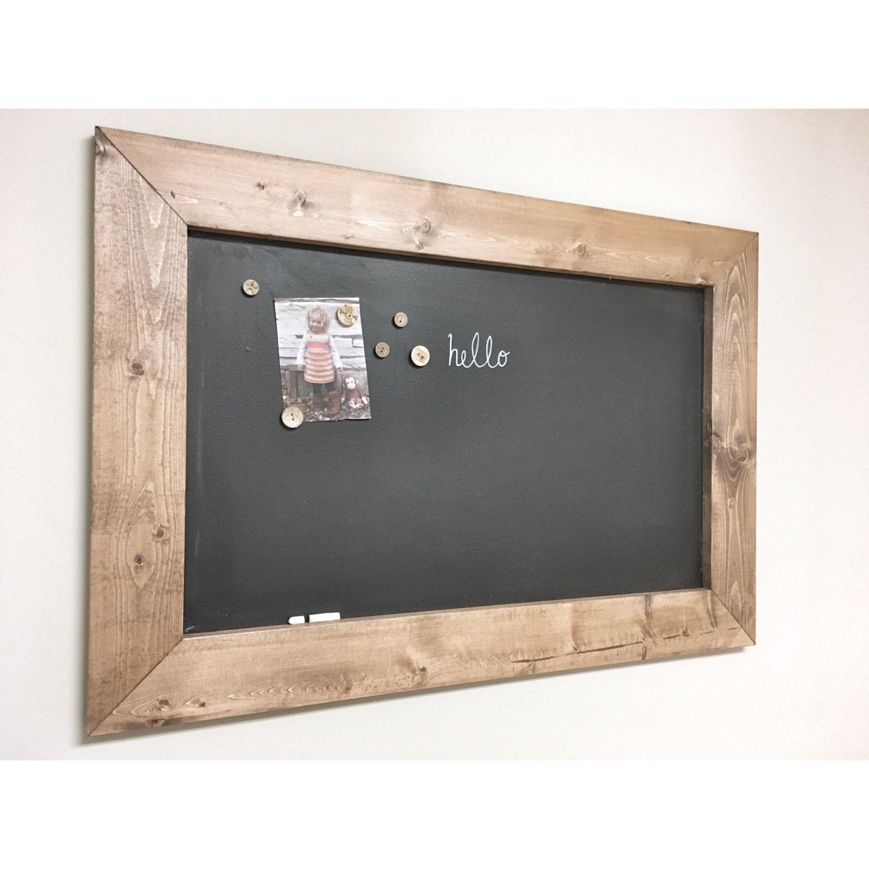 Rustic Wooden MAGNETIC CHALKBOARD Memo Board Frame - Farmhouse ...
