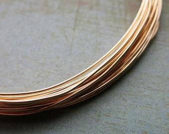 24 gauge Raw Red Brass Dead Soft Round Wire - 10 feet