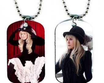 DOG TAG NECKLACE - Stevie Nicks #3 Fleetwood Mac Rock Music Singer Magical