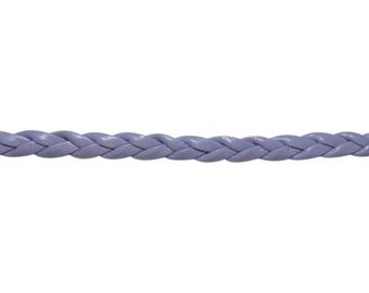 3 metre braided faux leather purple cord